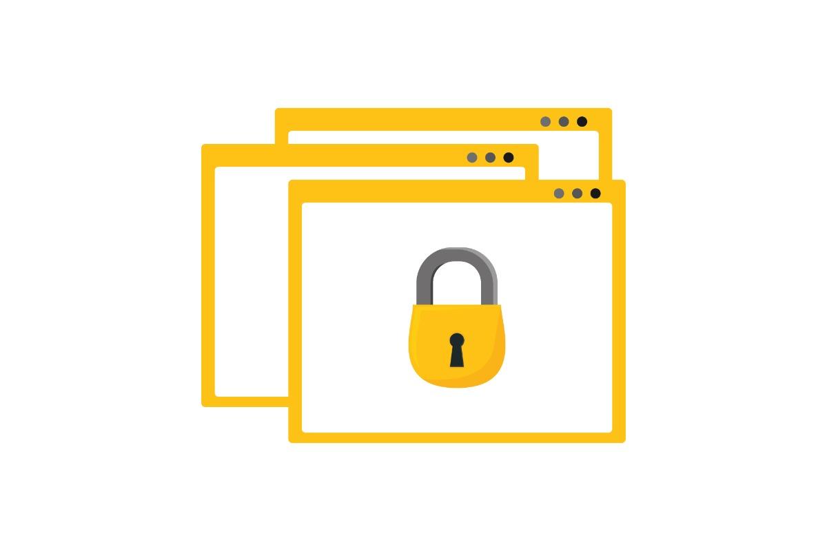 Look for the website SSL certificate padlock