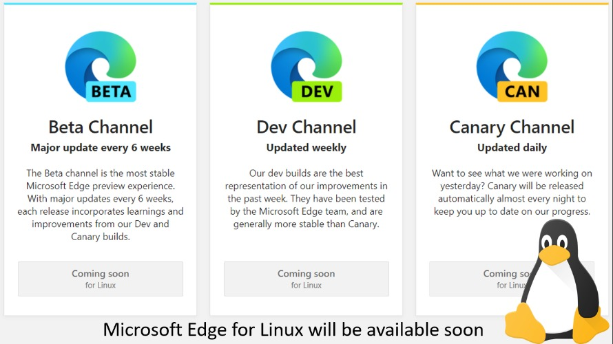 Microsoft Edge for Linux will avaiable soon