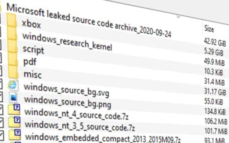 Windows XP and Windows Server 2003 source code leaked online